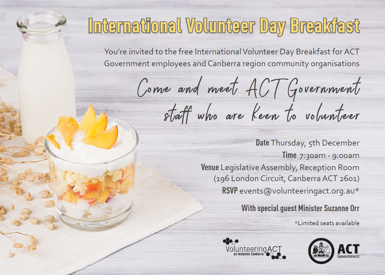 International Volunteer Day Breakfast